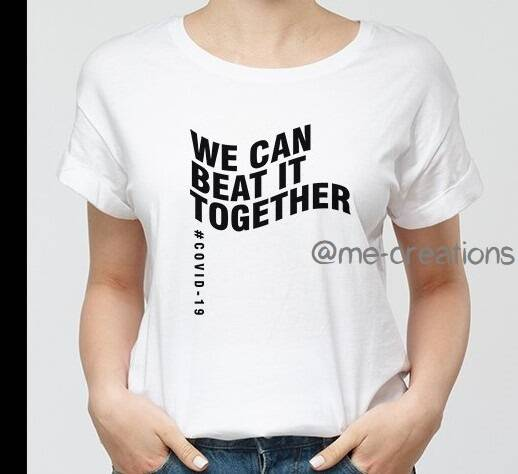 T-shirt 'We can beat it together'