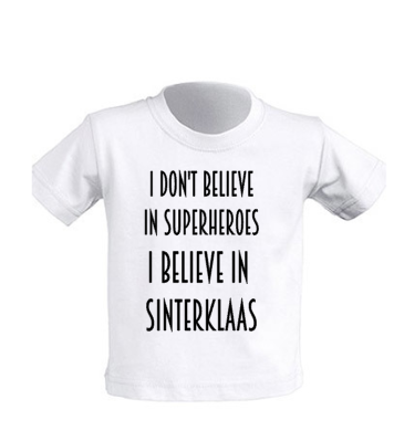 T-shirt 'I don't believe'