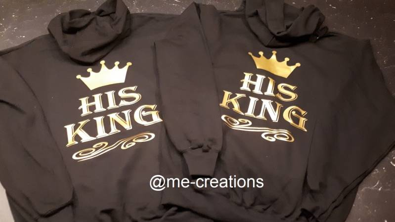 Set hoodie 'His king'
