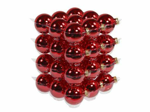 Bauble 36pcs. Red Glossy 57mm
