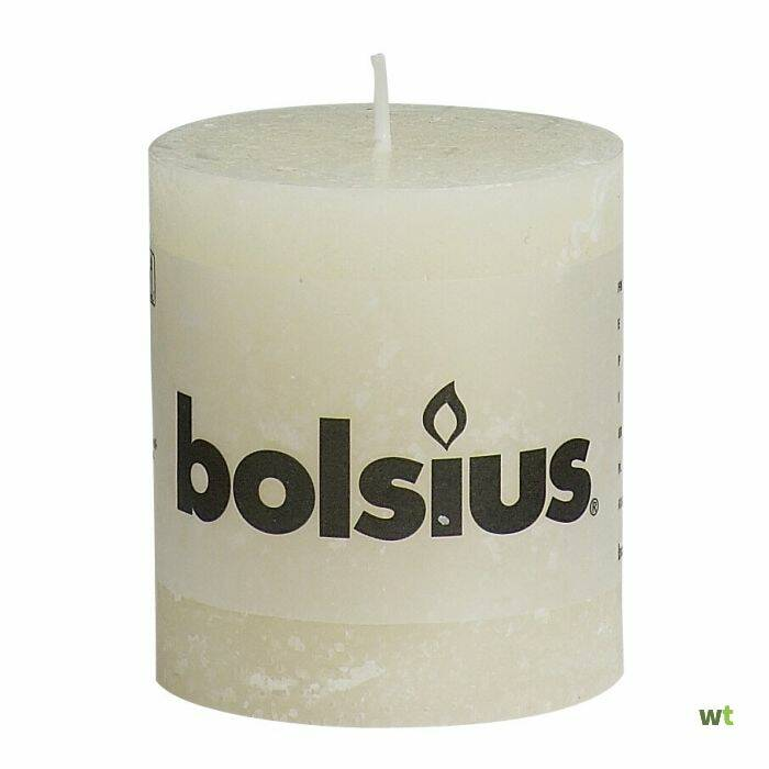 Bolsius Rustic Candles ivory