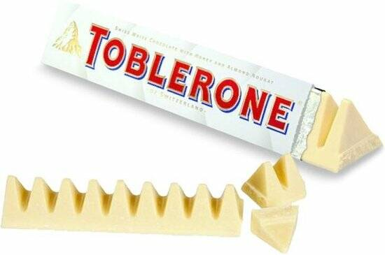 Toblerone white chocolate 4x100gr.