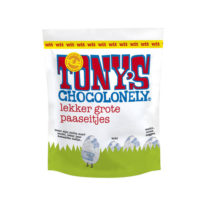Tony's Chocolonely Easter Eggs Pouch White.
