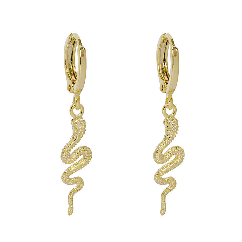 Golden snake Earring