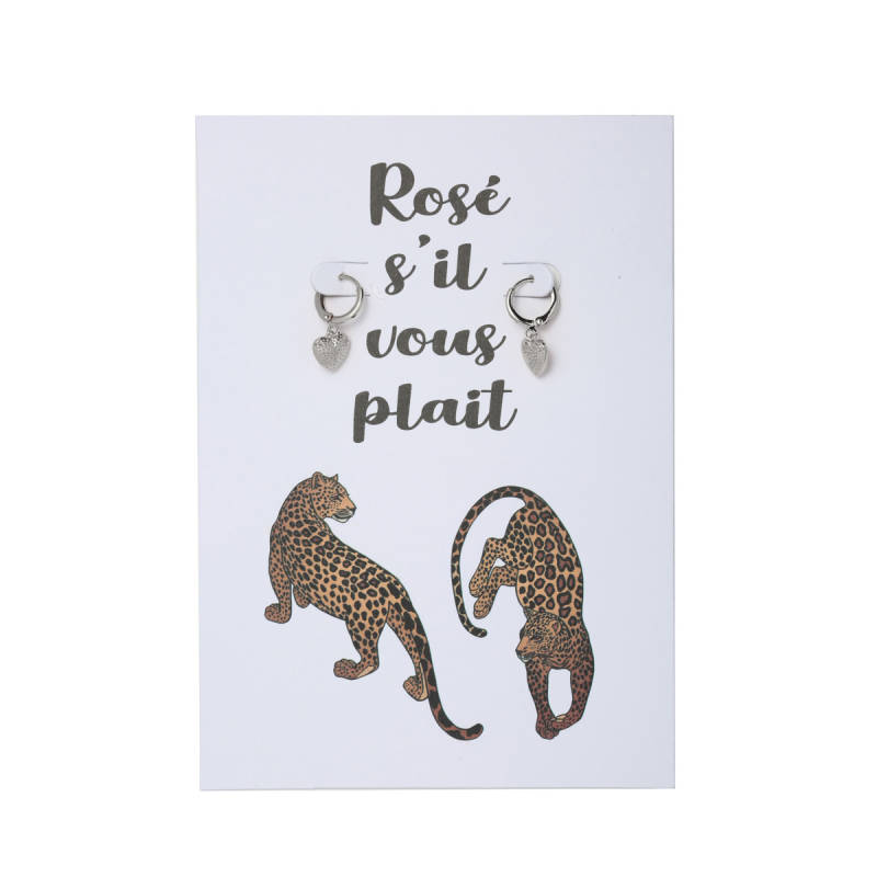 Rosé s'il vous plait postcard (Earrings)