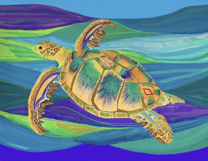 Myrtle The Turtle Print