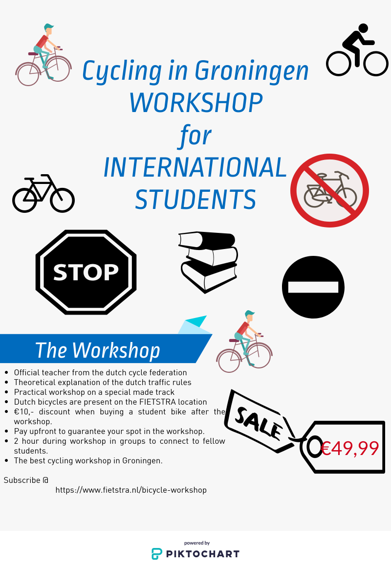 Workshop International Students Cycling in Groningen