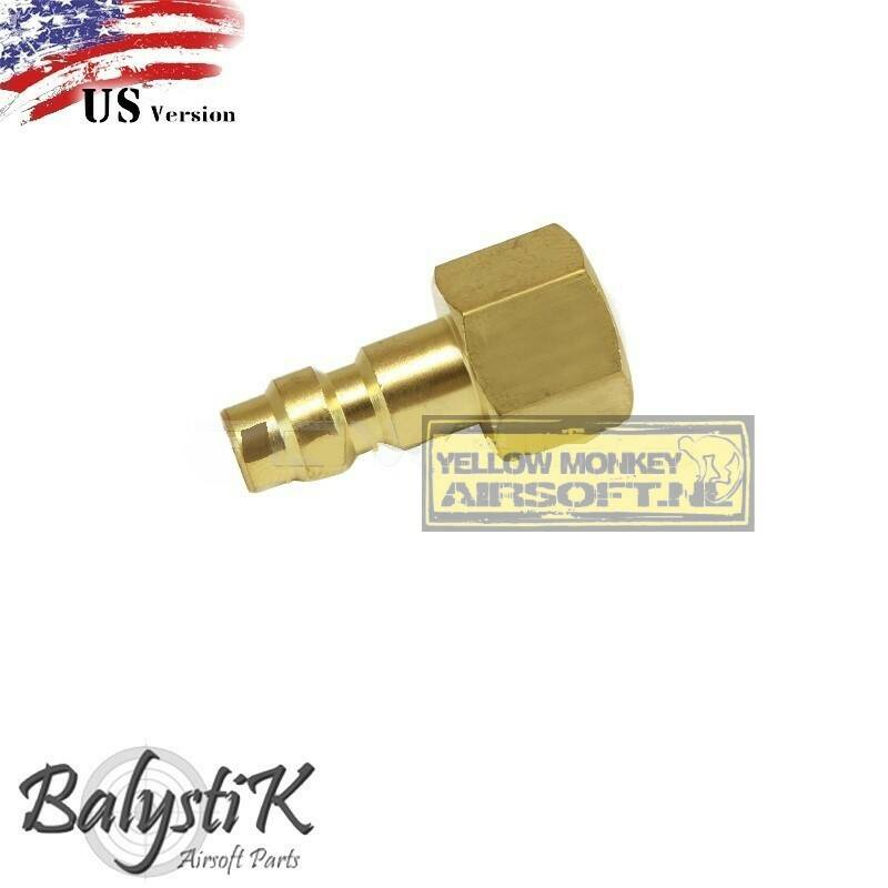 balystik 2 in 1 connector including a male nippel met 1/8 NPT female thread