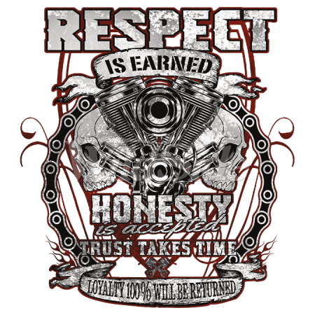 RESPECT IS EARNED HONESTY IS ACCEPTED