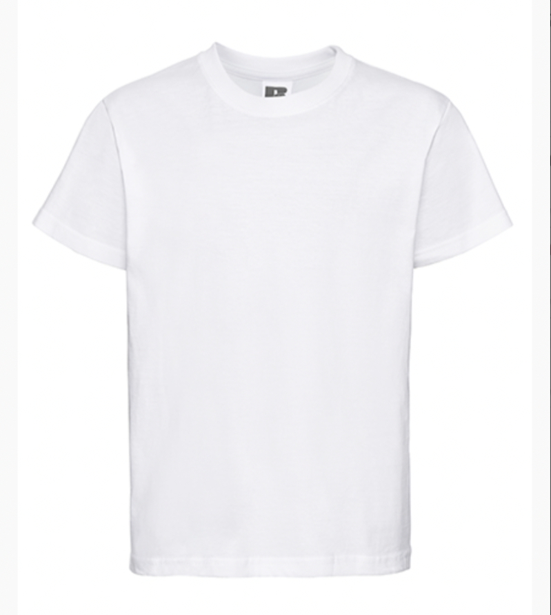 Kinder T-shirt Russel Classic Wit