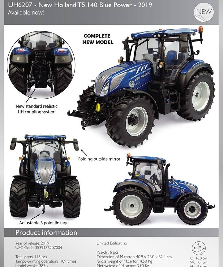 New Holland T 5- 140 BluePower