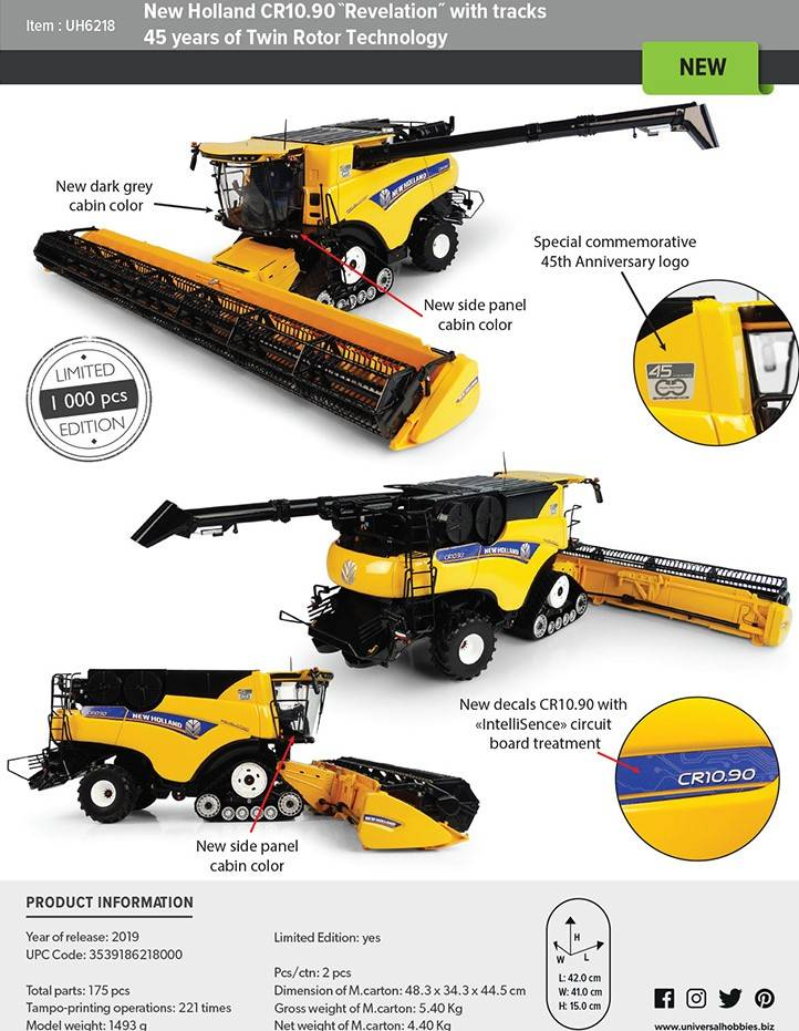 "New Holland CR 10.90  ""Revelation"" w Tracks {45 jaar}"