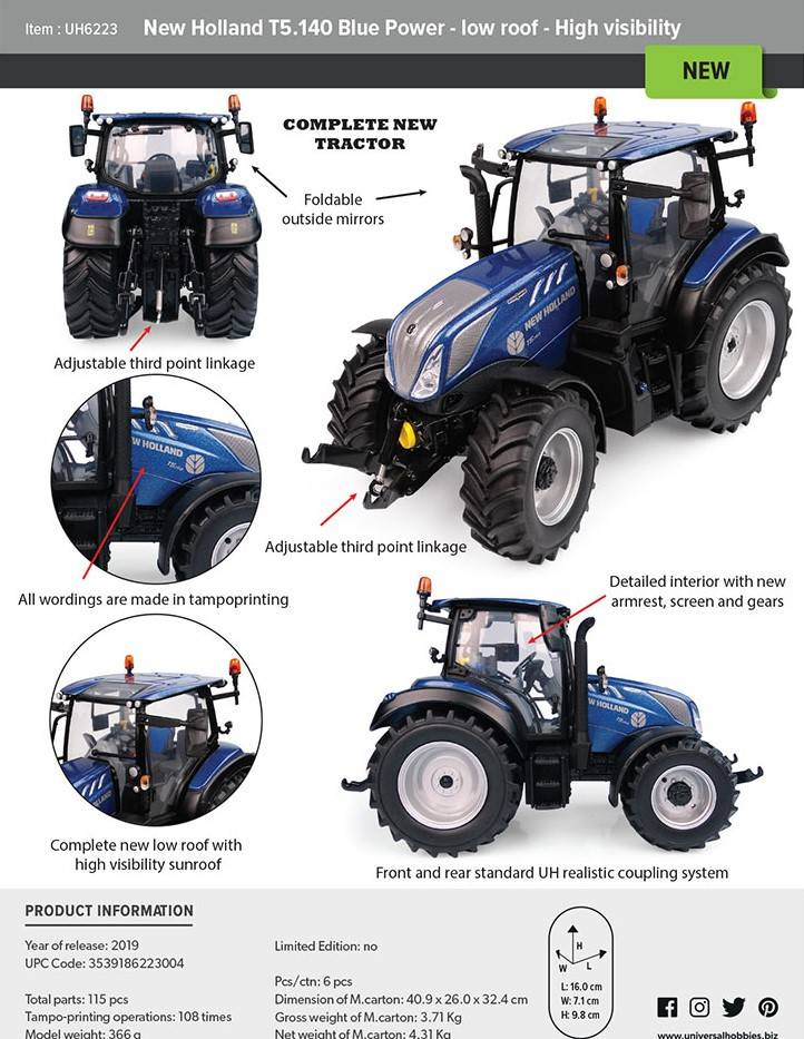 New Holland T 5. 140 Bp low roof