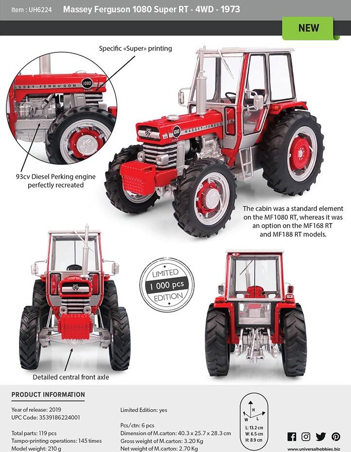 MF 1080 Super RT 4wd Lim.Ed