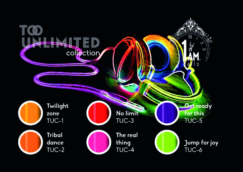 Too unlimited collection + 2gratis glitters