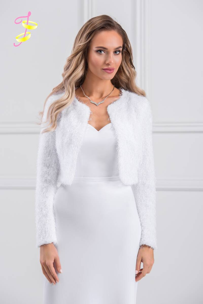Wedding jacket warm faux fur B204