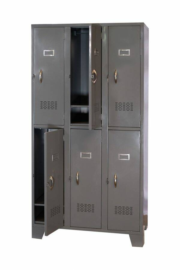 STL-US104 6 Door Steel Locker