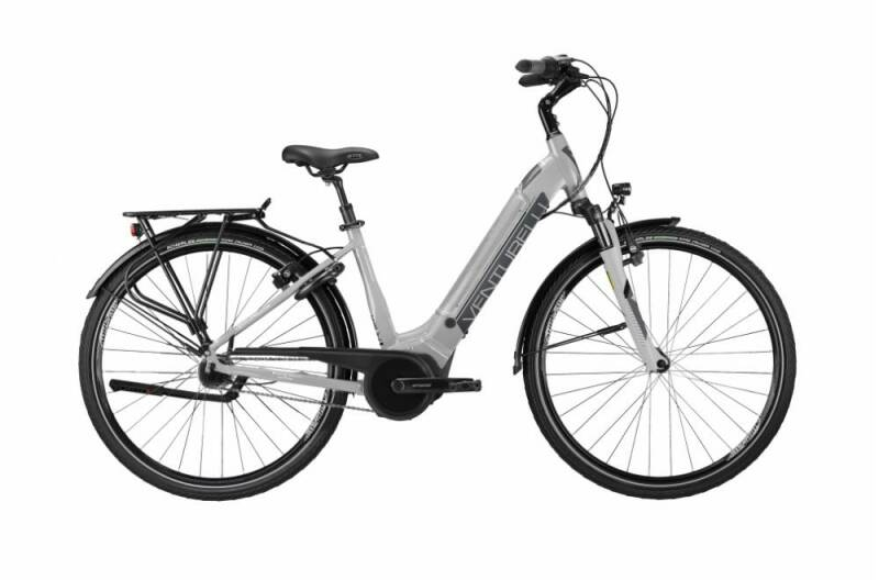 Fiets B-Bright 400WH Zilver/Antraciet mat Dame