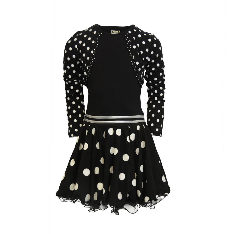 W20 Dress Bolero Black dot