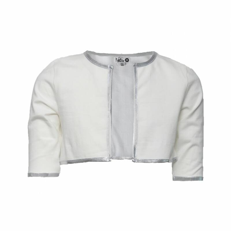 C '21 pretty jacket short off-white / Silver