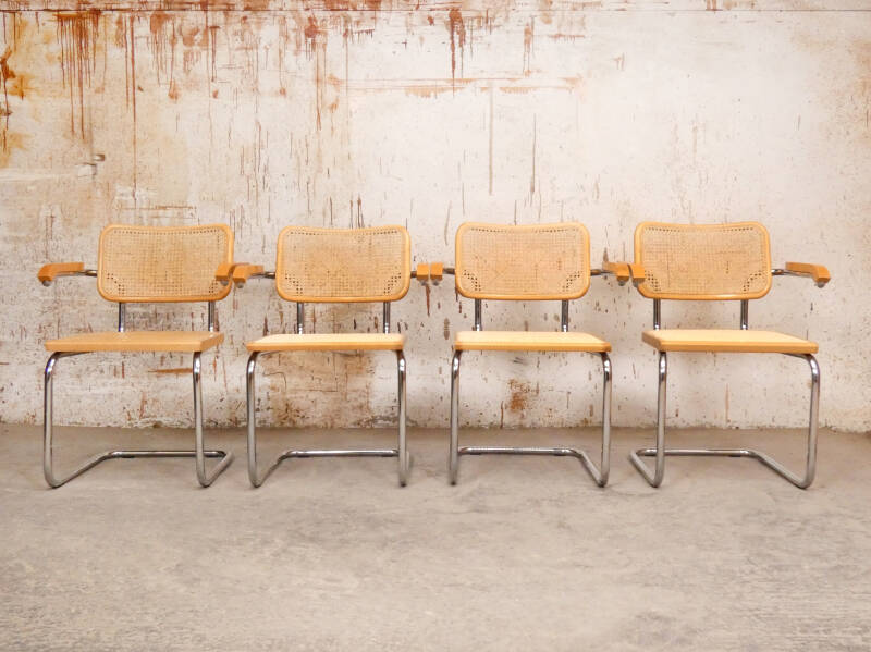 4 x Marcel Breuer S64 style chairs