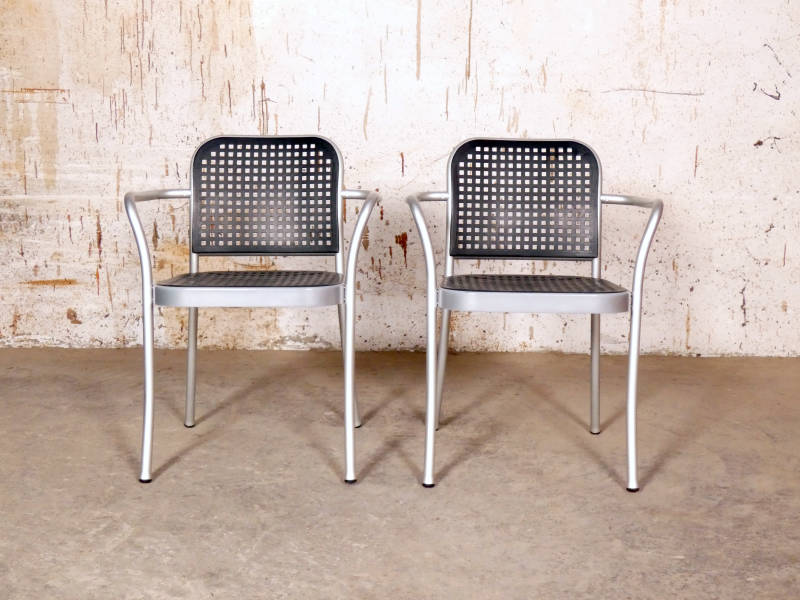 8 x 'Silver' chairs by Vico Magistretti by DePadova