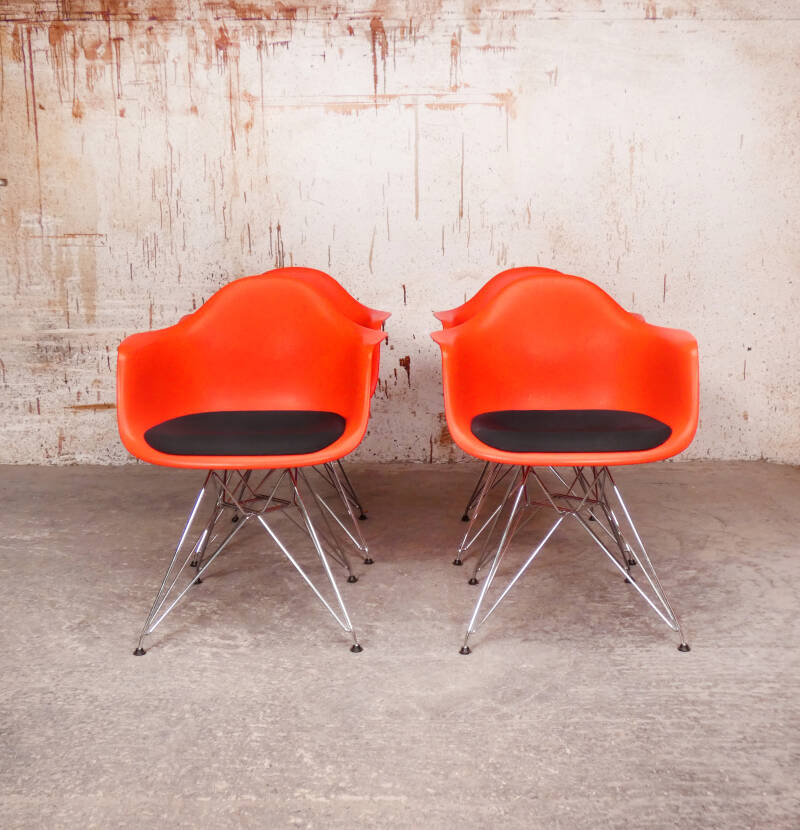 Eames DAR chairs poppy red