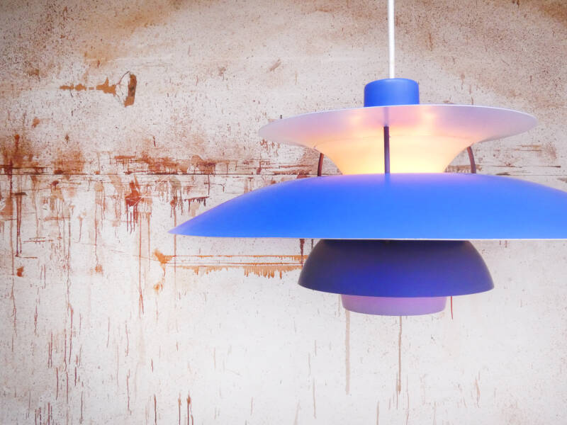 Louis Poulsen PH5 pendant lamp blue