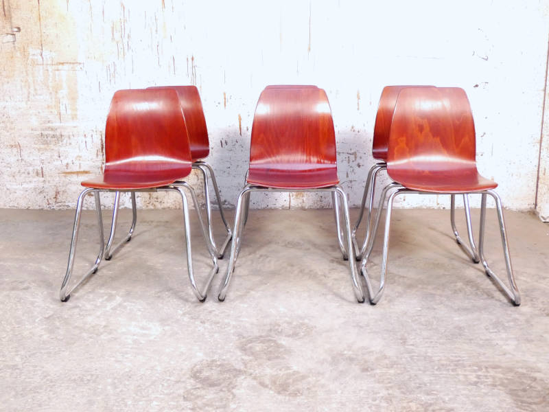 6 Pagholz chairs by Flototto