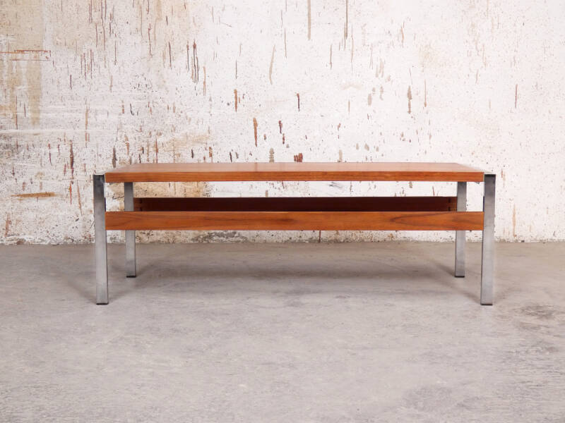 Vintage coffee table with tilting top