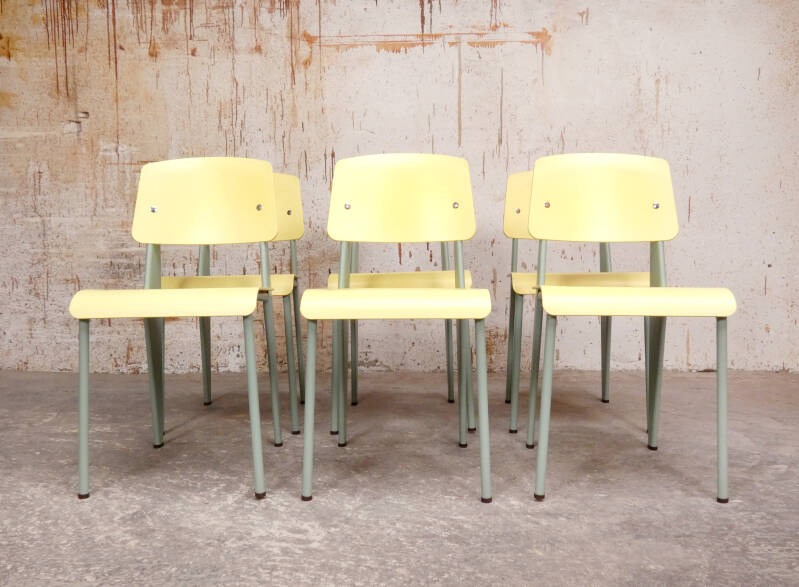 Vitra Standard SP chairs by Jean Prouvé