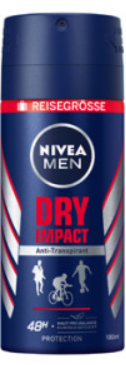 Nivea deospray MEN 100ml -  per 5st / par 5 pc  -15%