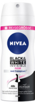 Nivea Black&White Invisible 100ml -  5st / 5pc -15%