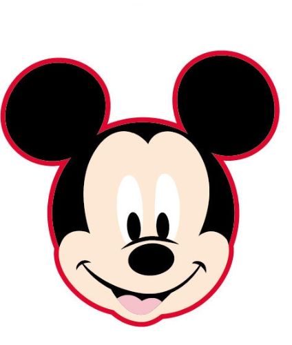 Disney Mickey Mouse kussen / coussin 35 x 35 cm rood/rouge