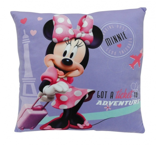 Disney Minnie Mouse Kussen / coussin paars 34 x 34 x 11 cm