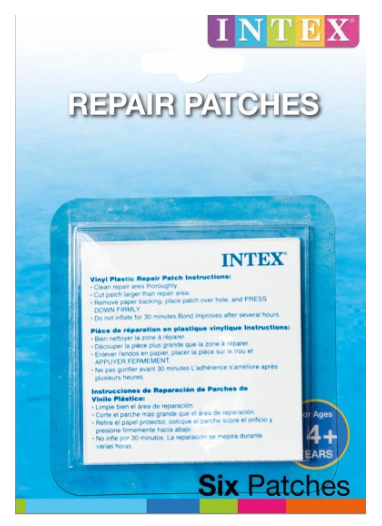 Intex reparatieset 6-delig transparant / Set de réparation Intex 6 pièces transparent