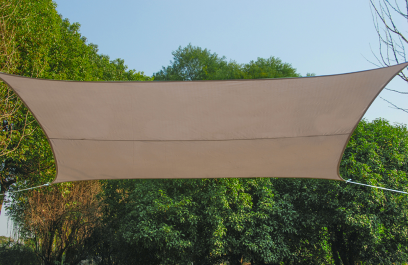 Schaduwdoek 360x360 cm taupe / Voile d'ombrage 360x360 cm taupe