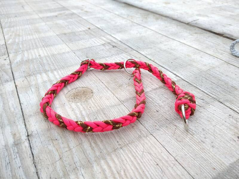 Sliphalsband in paracord 60cm