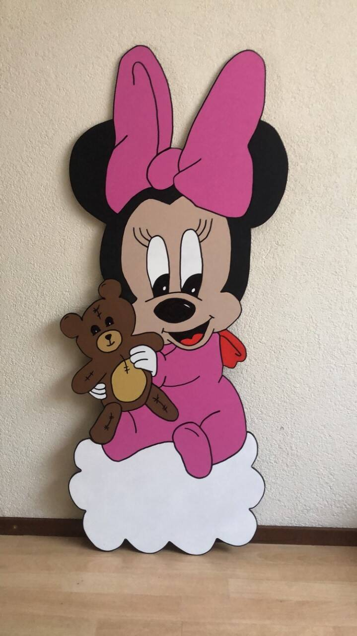 Geboortebord Minnie Mouse
