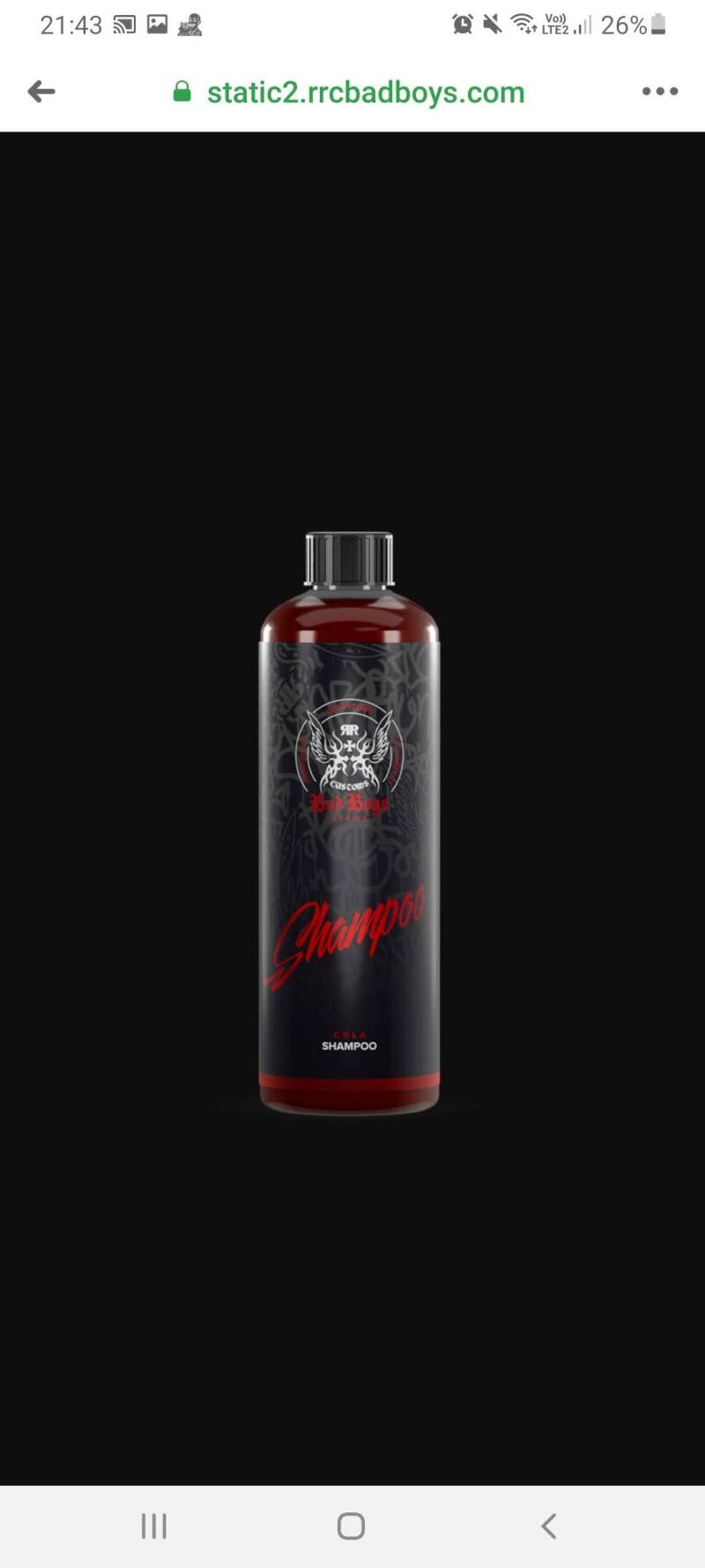 Badboys shampoo cola