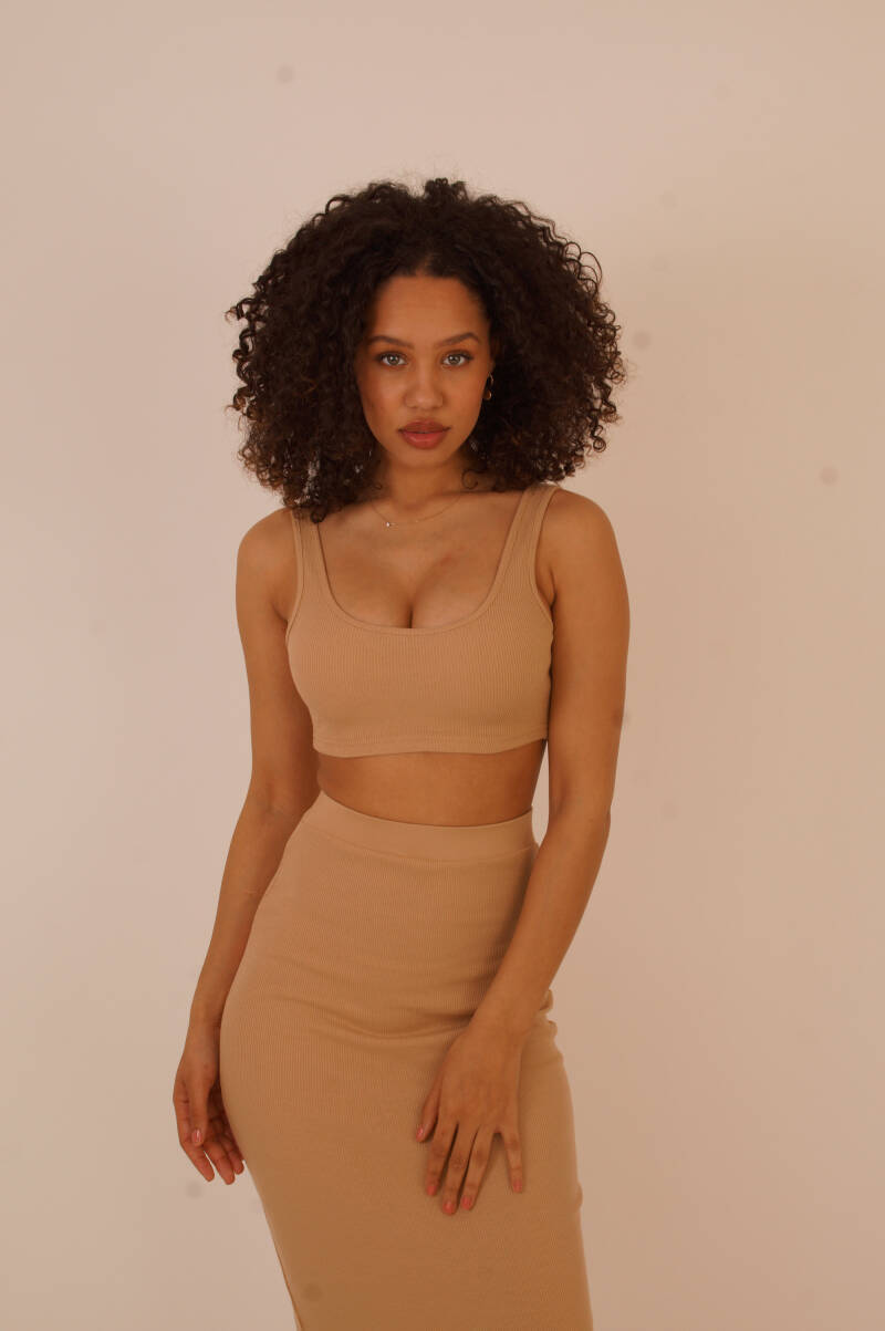 two piece set nude