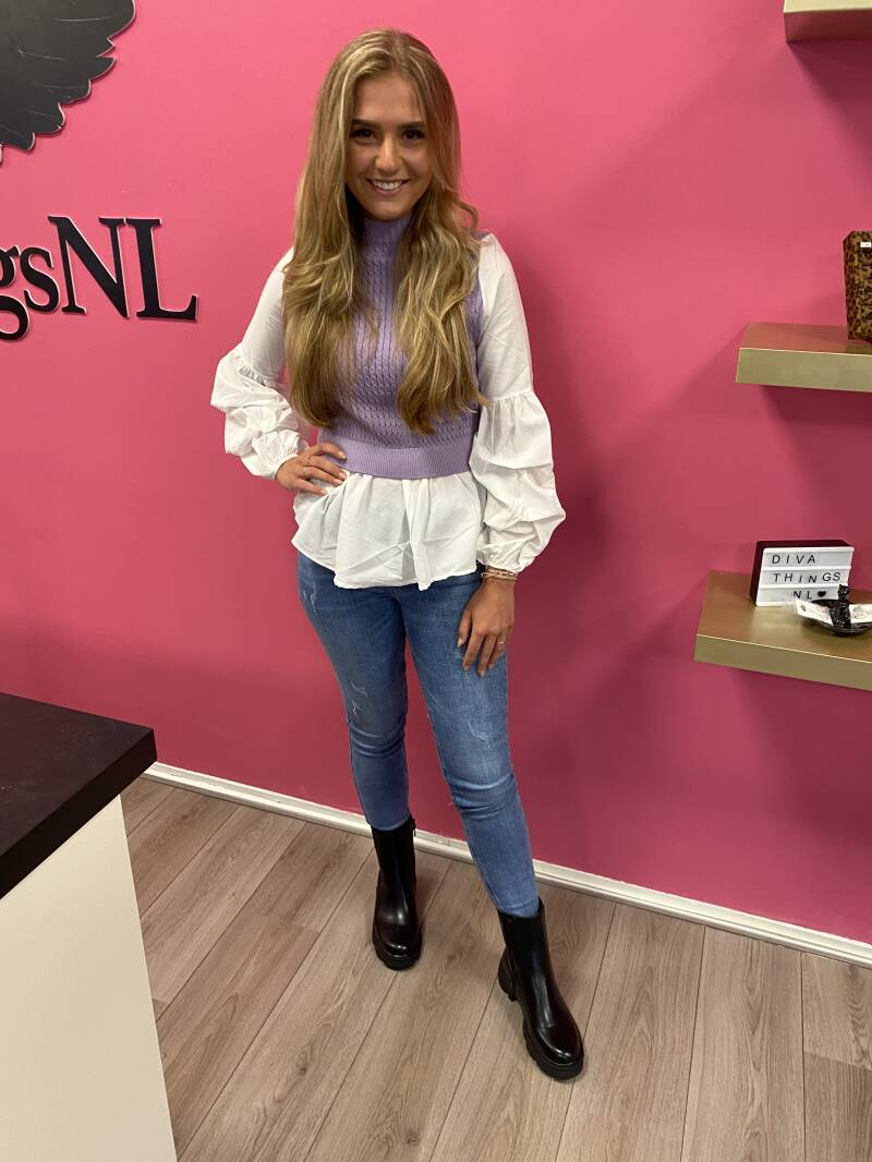 Blouse spencer paars