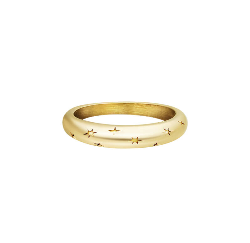 Ring starry sky gold