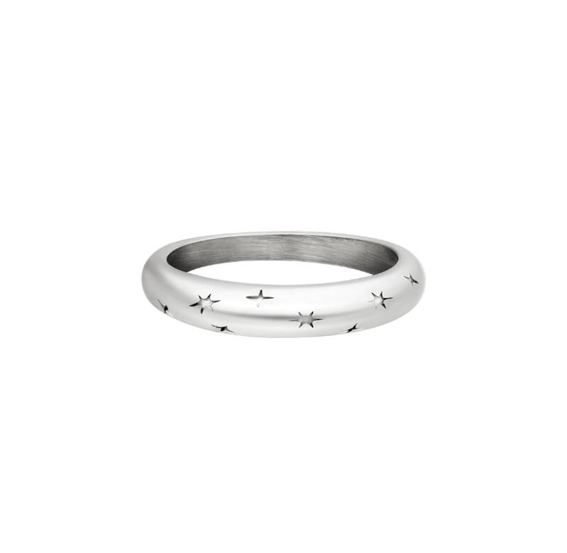 Ring starry sky silver