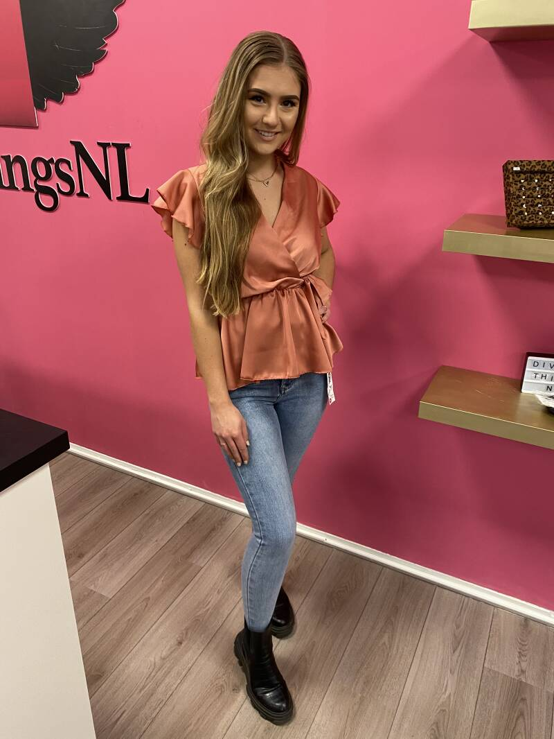 Blouse lou peach