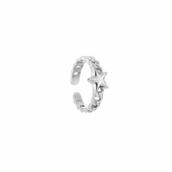 Ring chain star silver