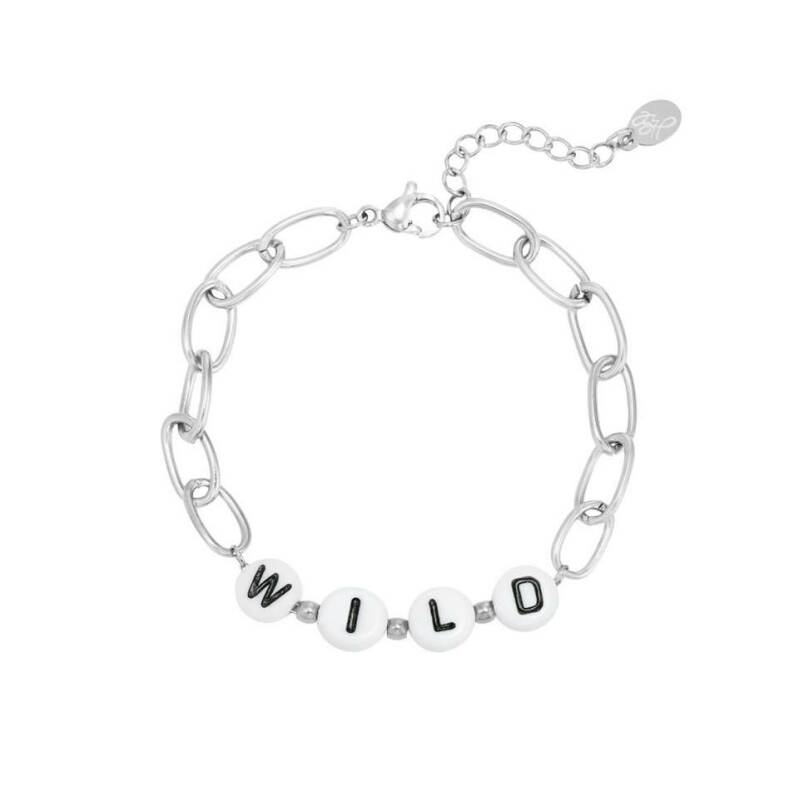 Armband beads wild zilver