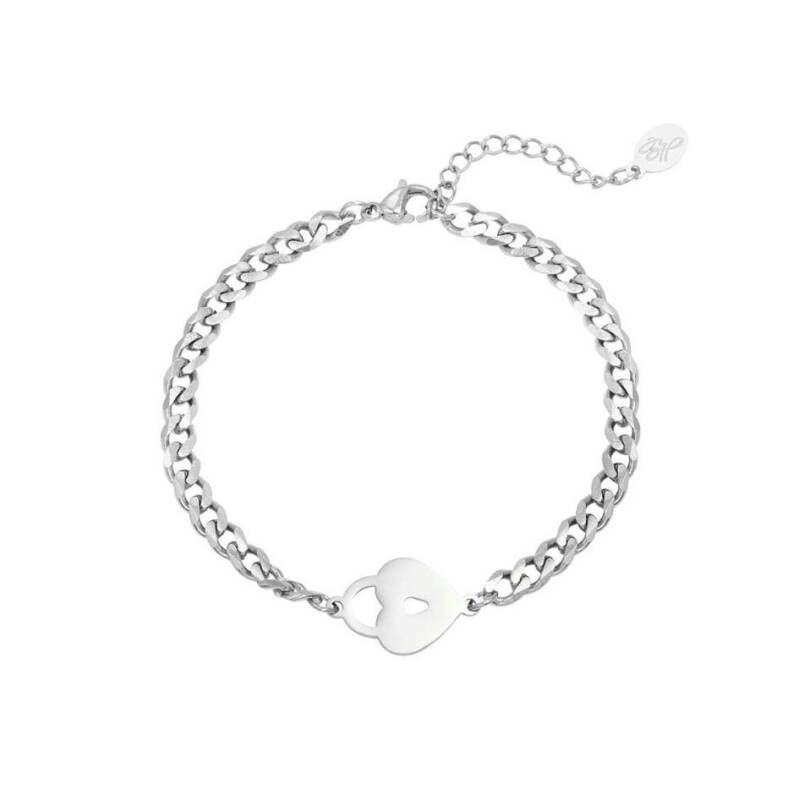 Armband locked heart zilver