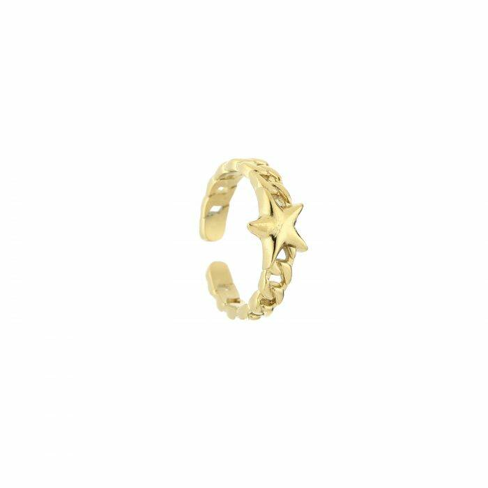 Ring chain star gold