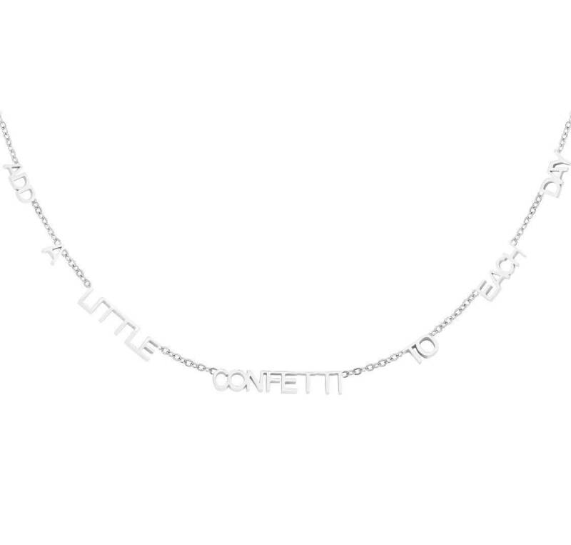 Ketting add a little confetti on each day zilver